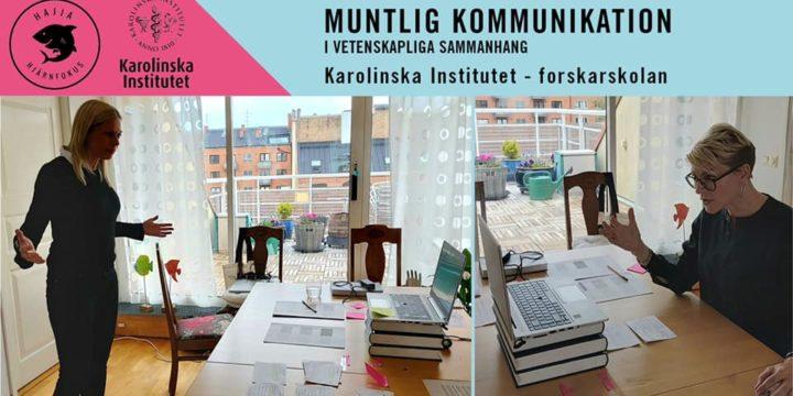 RETORIK FÖR KAROLINSKA INSTITUTETS FORSKARSKOLA – PÅ DISTANS!