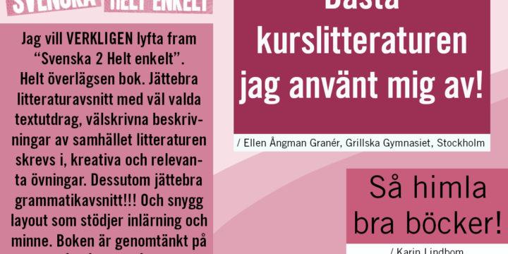 PÅ JAKT EFTER BRA LÄROMEDEL I SVENSKA PÅ GYMNASIET?