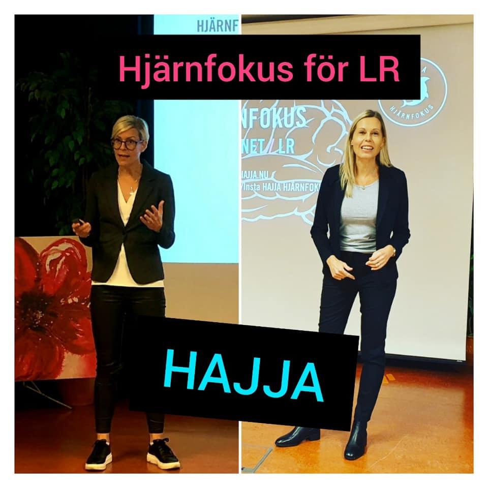 Bild på Annika och Lena som föreläser